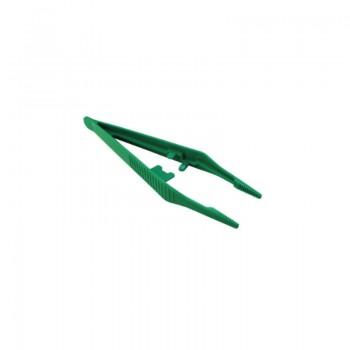 Pęseta jednorazowa (prosta, 13 cm, zielona)