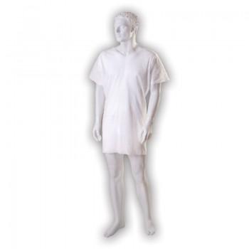 Koszula pacjenta z wycięciem V (jednorazowego użytku, niejałowa) Zarys