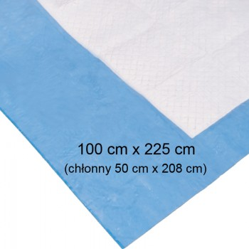 Podkład chłonny 100cmx225cm (na stół operacyjny) Zarys