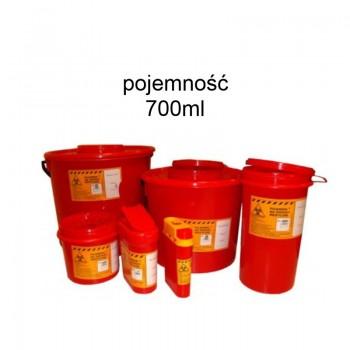Pojemnik 700ml PVC na odpady medyczne Zarys