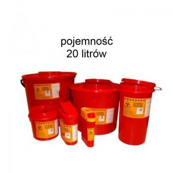 Pojemnik 20 litrów na odpady medyczne Zarys