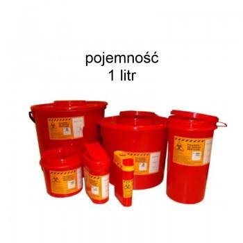 Pojemnik 1 litr na odpady medyczne Zarys