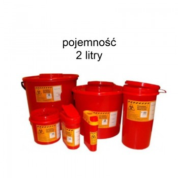 Pojemnik 2 litry na odpady medyczne Zarys
