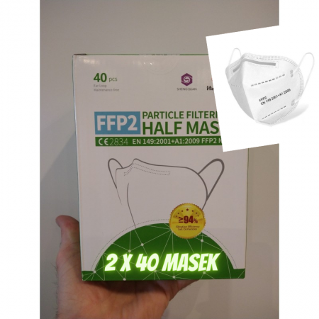Zestaw pakiet 2 x 40 sztuk maska ochronna FFP2 SMI