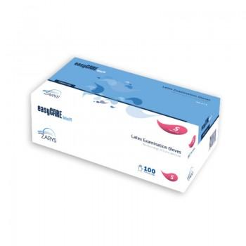 Rękawice diagnostyczne easyCARE Latex PF (bezpudrowe, 100 sztuk) Zarys