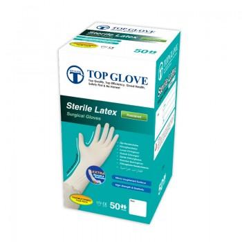 Rękawice chirurgiczne Top Glove (pudrowane, 100 sztuk) Zarys