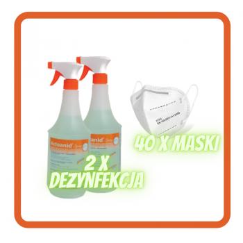 Pakiet 2 x dezynfekcja Actoanid + 40 x maska FFP2