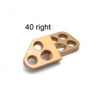 Płyta 3.5mm PAX Locking DPO Plates - Titanium (Gold, 7 holes, Right, 40) Securos