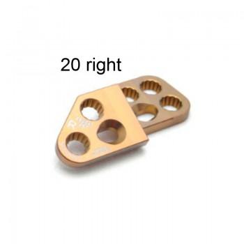 Płyta 3.5mm PAX Locking DPO Plates - Titanium (Gold, 7 holes, Right, 20) Securos