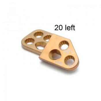 Płyta 3.5mm PAX Locking DPO Plates - Titanium (Gold, 7 holes, Left, 20) Securos