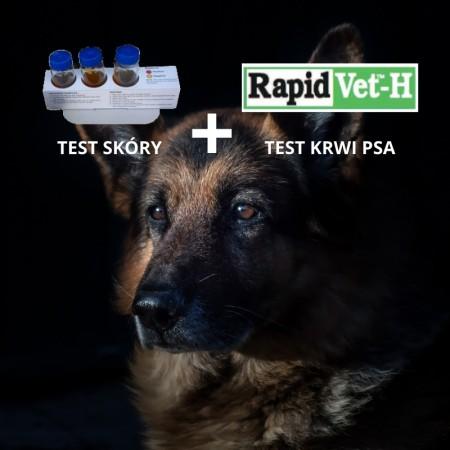 Pakiet test skóry + test krwi psa