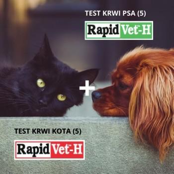 Pakiet testów krwi dla psa i kota (2x5) Agrolabo